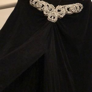 Frederick's of Hollywood Other - Frederick's Black Long Fancy Skirt High Front-Slit